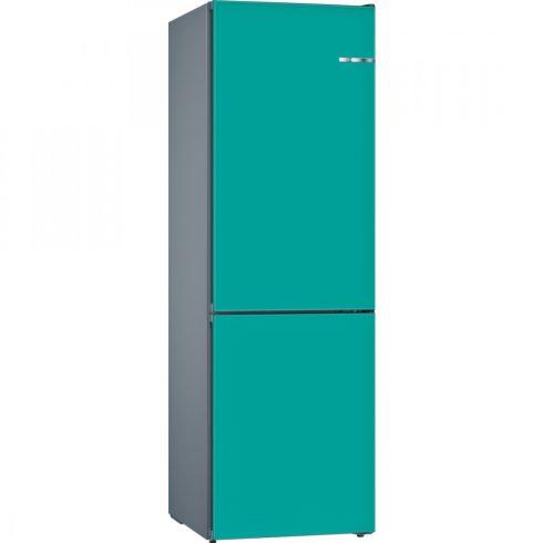 BOSCH KGN39IJ3A Kombinált hűtőszekrény VarioStyle, AQUA szín előlappal